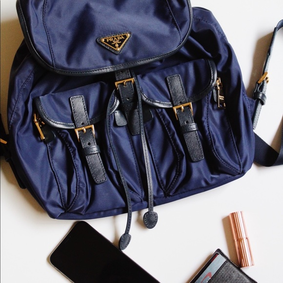 21aff56c67a3 PRADA Nylon Backpack in Navy Blue! M_5c4fd0f07386bcaa3d2d9271